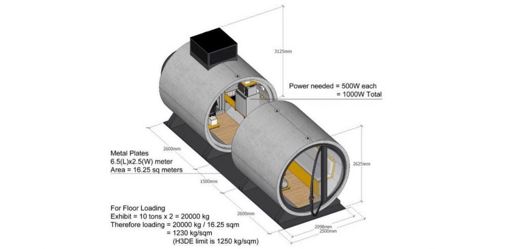 Opod Tube - mikro kuća kreirana unutar betonske cevi