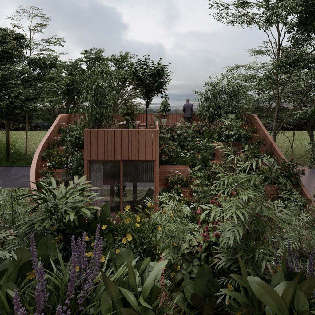 Samoodrživa Jin-Jang porodična kuća sa krovnom baštom